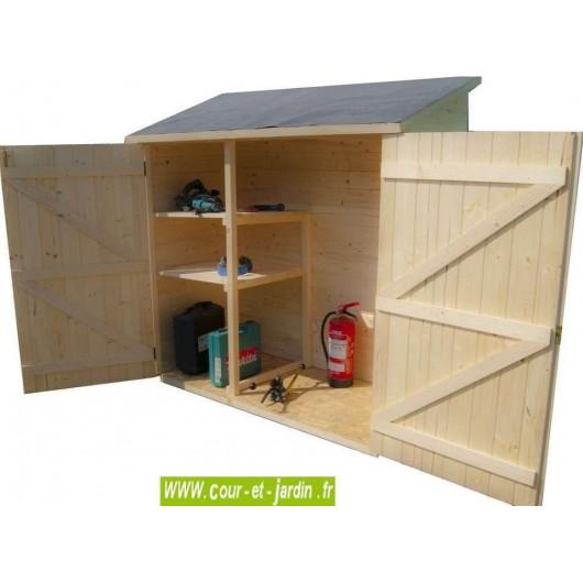 armoire de jardin en bois ed1708e rangement exterieur 163x66