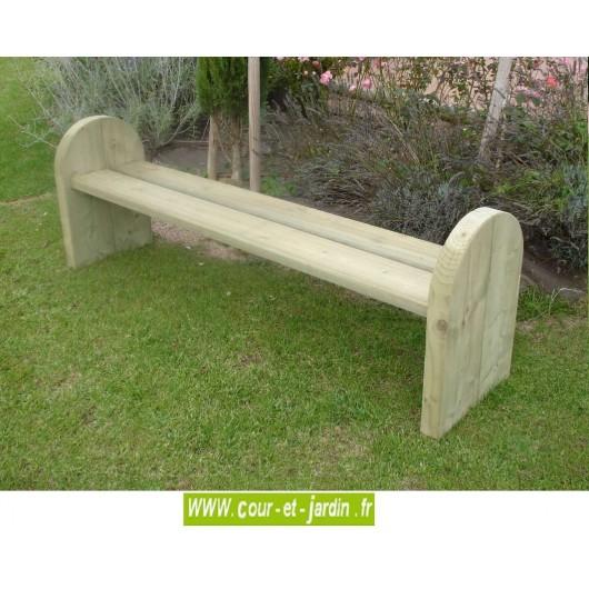 banc de jardin bois sans dossier elite banc bois design