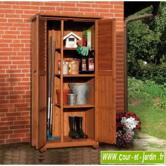 armoire de balcon pedro haute en bois meuble de balcon
