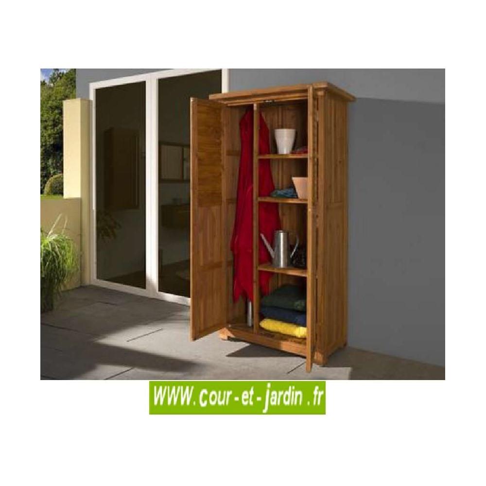 cette armoire pour balcon ou armoire pour terrasse est armoire de rangement