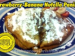 Strawberry-Banana Nutella Panini