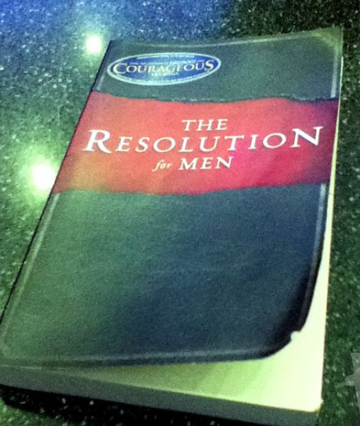 A picture of my copy of the book, The Resolution for Men