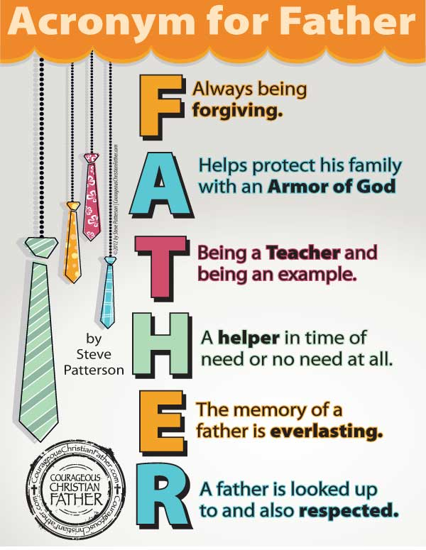 Acronym for Father Printable