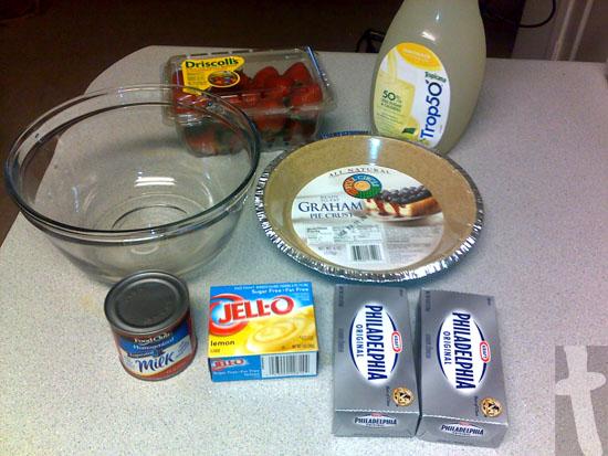 ingredient List for (Strawberry) Lemonade Pie