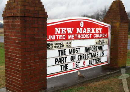 Most important part of Christmas is the 1st 6 letters - New Market United Methodist Church