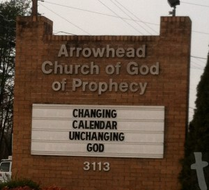Changing Calendar Unchanging God