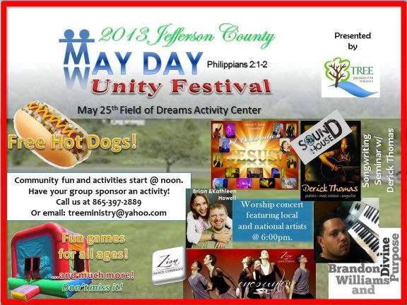 One of the May Day Unity Festival Fliers