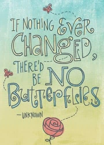 If Nothing Ever changed there'd be no butterflies - unknown - (Butterfly)