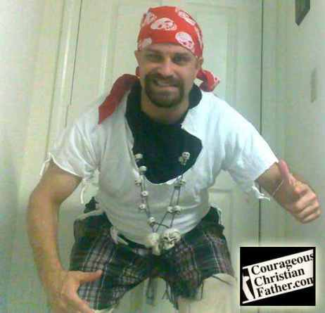 How Christian Pirate Steve, now known as Cap'n ChristianBlogR costume first looked like.