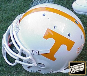 Vols Helmet from 2004 inside Neyland Stadium - Photo Credit: Steve Patterson for The Knoxville Journal