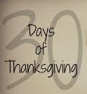 30 Days of Thanksgiving Day 1