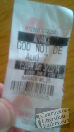 God's Not Dead Movie ticket
