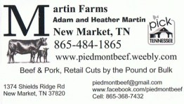 Martin Farms Business Card