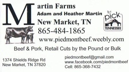 Martin Farms Business Card