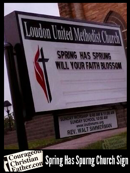 Spring Has Sprung Church Sign