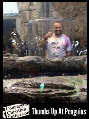 Ripley's Aquarium of the Smokies Steve Gives Penguins a Thumbs U