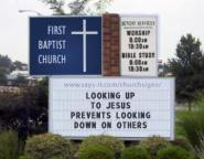 Church Sign Generated reads Looking Up To Jesus Prevents ...