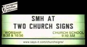 SMH at Two Church Signs