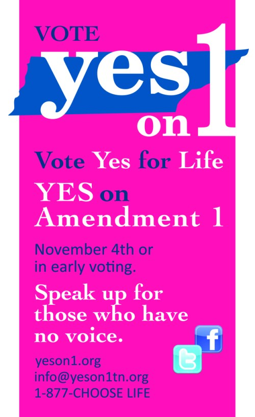 Yes On 1 Poster