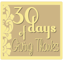 30 Days of Thanksgiving: Day 11