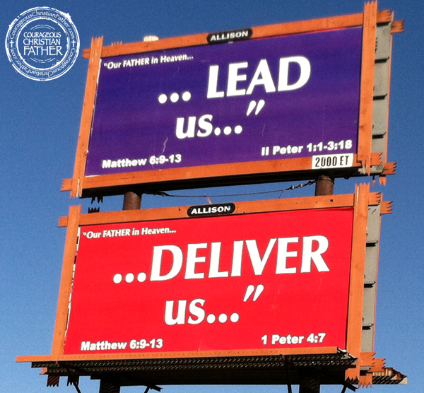 Lead Us ... Deliver Us ... Billboards (Clyde, NC)