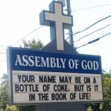 Name on Coke Church Sign
