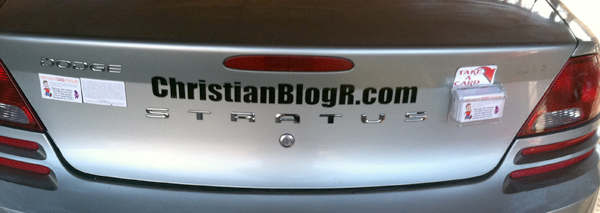 Tract Box on back of car