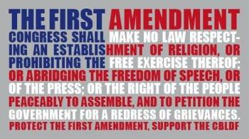 January 16 is Religious Freedom Day - The First Amendment - Congress shall make no law respecting an establishment of religion, or prohibiting the free exercise thereof; or abriding the freedom of speech, or of the press; or the right of the people peaceably to assemble, and to petition the government for a redress of grievances.