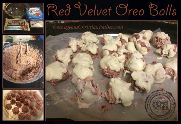 Red Velvet Oreo Balls