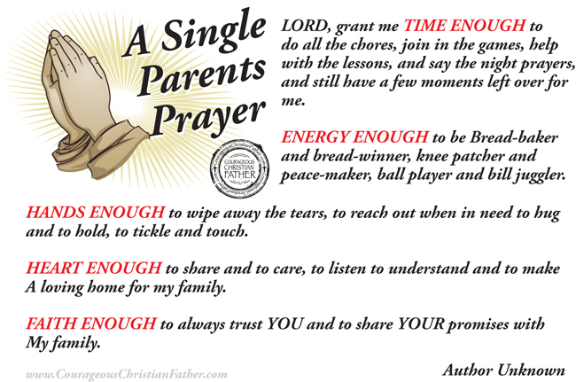 A Single Parents Prayer