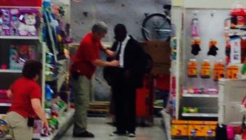 One Teen Gets A Tie Tying Lesson at Target