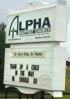 Train Up a Child Church Sign