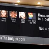 Homosexuality is a behavior billboard