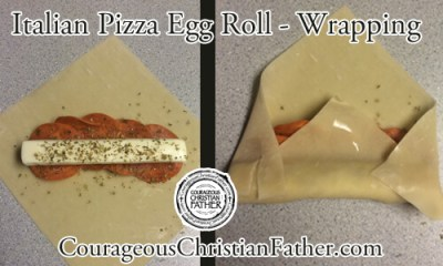 Italian Pizza Egg Roll - Wrapping