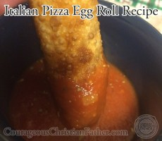 Italian Pizza Egg Roll Recipe