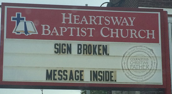 Heartsway Baptist Church - Church Sign - Sign Broken Message Inside - Knoxville, TN