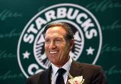 Starbucks Corp. CEO Howard Schultz