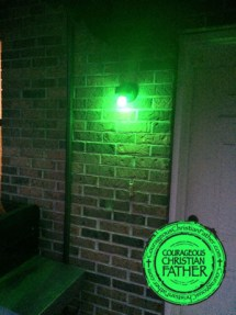 My Porch Light is Green! Green Light A Vet!