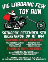 His Laboring Few Toy Run 2015