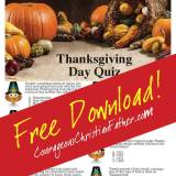 Thanksgiving Day Quiz Printable