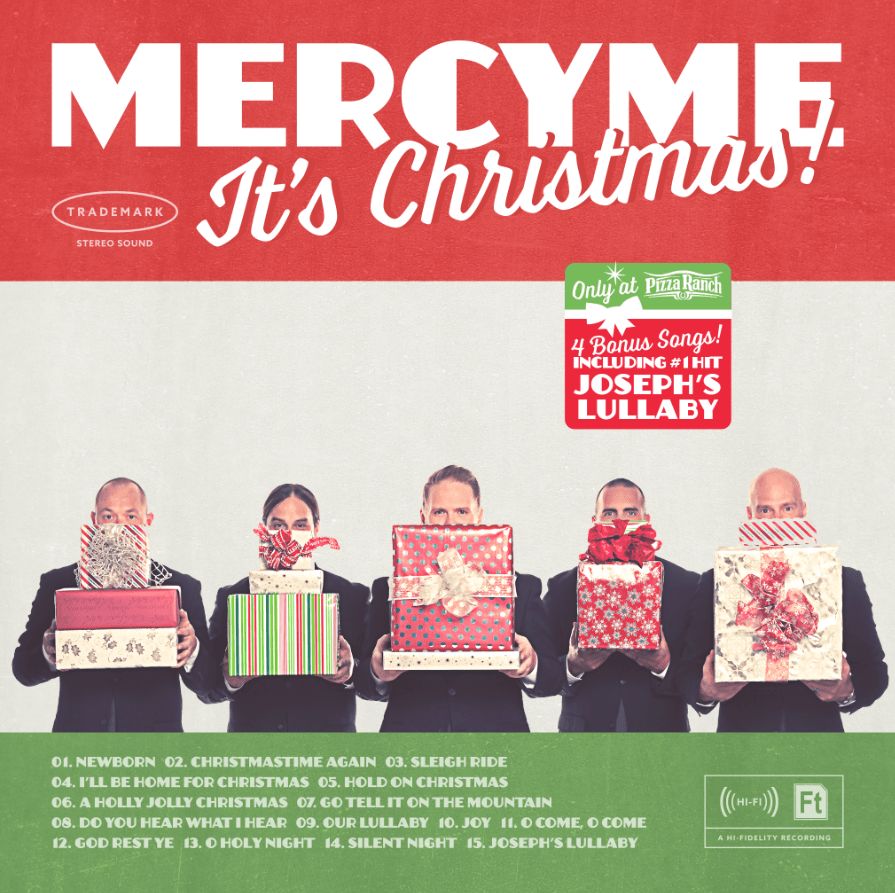 """MercyMe """"It's Christmas!"""" Pizza Ranch CD Cover"""