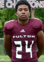 Zavion Dobson of Fulton High School Football #24