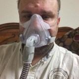 Steve wearing the ResMed AirFit F10. OSA