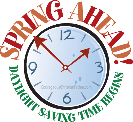 Spring Ahead! Daylight Saving Time Begins