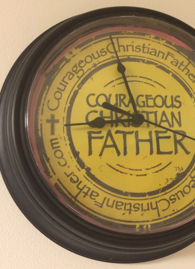 Courageous Christian Father Clock