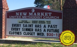 Every Saint Has A Past and Every Sinner Has a Future - New Market United Methodist Church