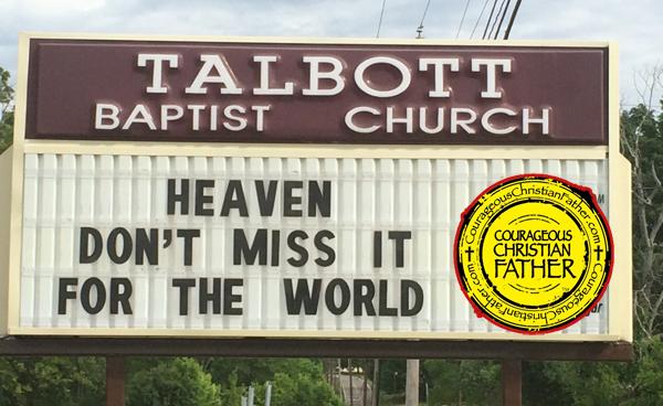Heaven Church sign (Talbott Baptist Church)