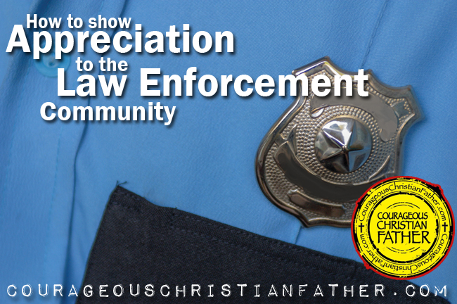 How to show appreciation to the law enforcement community