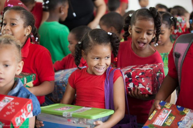 100 millionth shoebox delivery in Dominican Republic. (Photo Compliments of Operation Christmas Child) Back to School - School Supplies for Operation Christmas Child