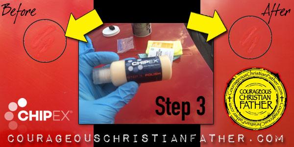 ChipEx Paint Chip Repair System Polish Step 3